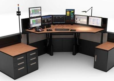 Russ Bassett - Public Safety Console Furniture FLEX consoles