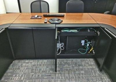 Russ Bassett - Technical Tables -cabinet close-up open