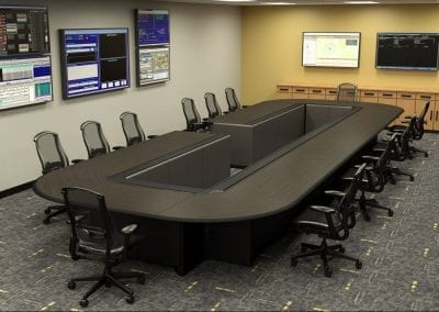 Russ Bassett -Command and Control Conferencing Console Furniture - ComEd - EOC Table