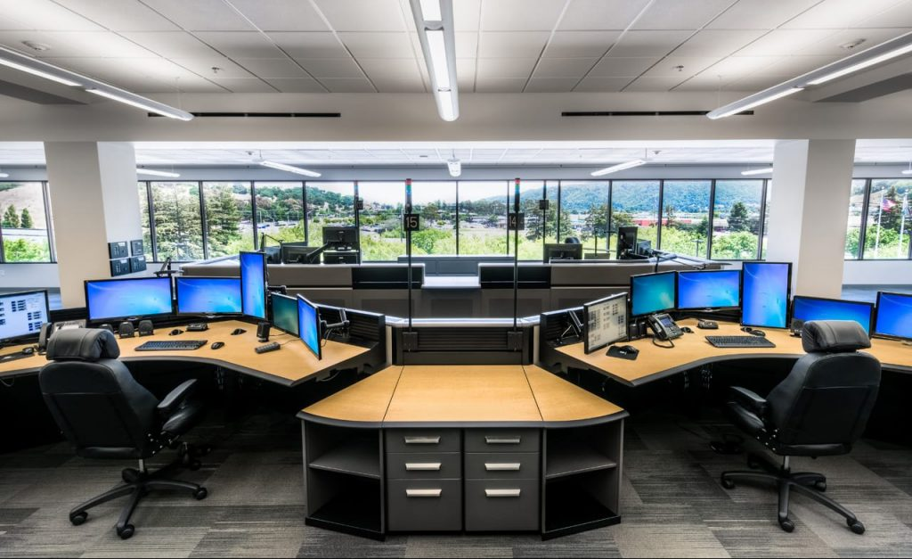 Marin County 911 public safety dispatch consoles