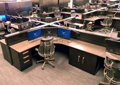 Air Force Operations Russ Bassett Command Control Center Consoles