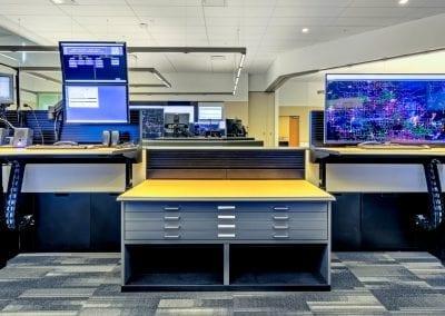 Russ Bassett Corp Height Adjustable Desks for Utility Operations