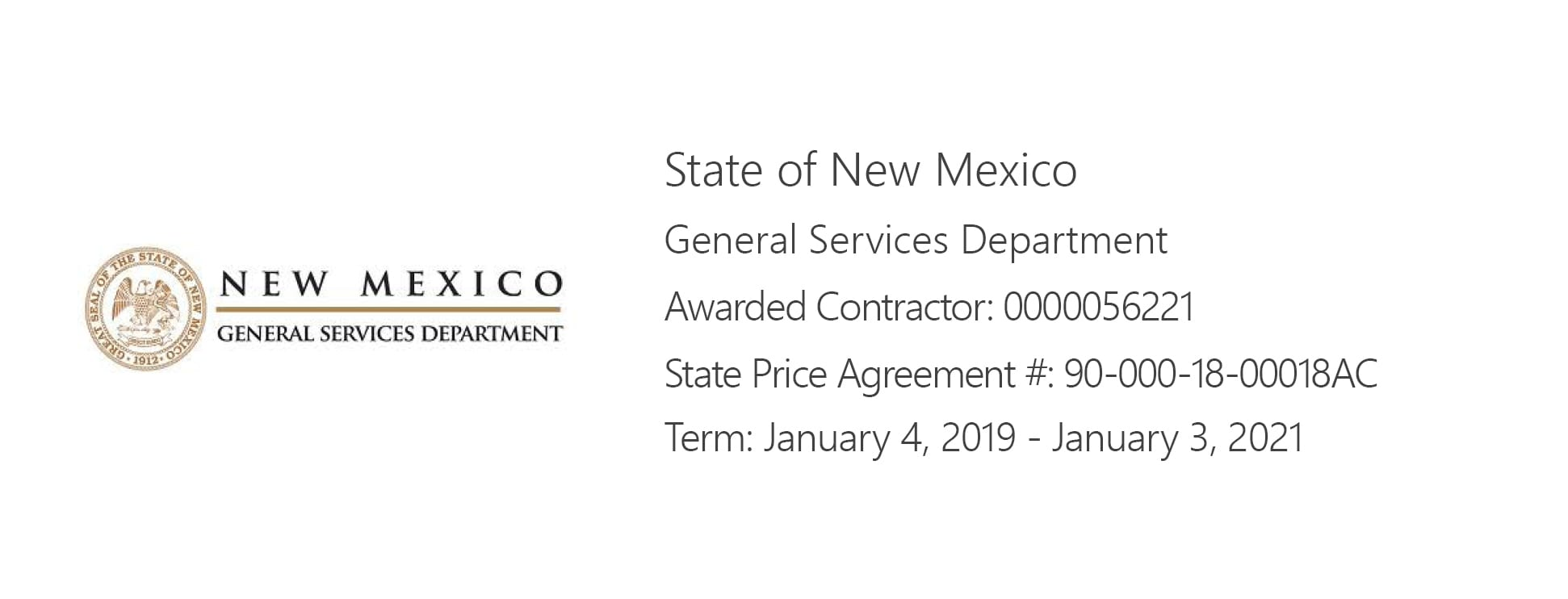 State of New Mexico Purchasing Agreement
