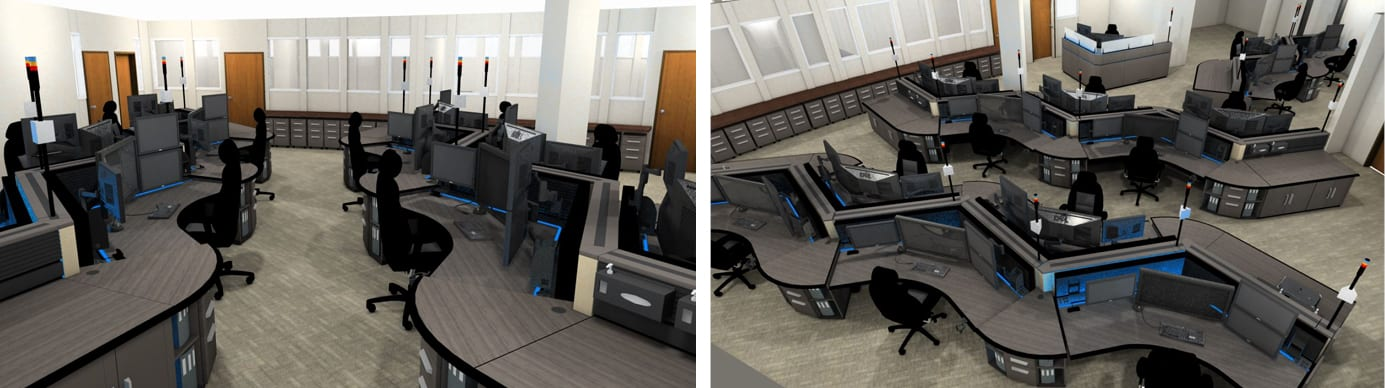 Chula Vista PD 911 Communications Console Furniture Rendering