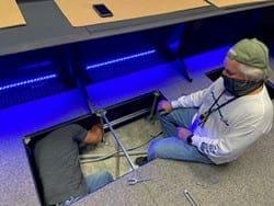 Seismic anchoring FAA ATC console furniture Russ Bassett